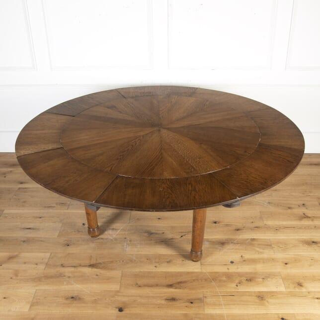 Expanding Circular Oak Dining Table TD4015704