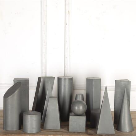 15 Geometric Zinc Artist's Shapes DA3616431