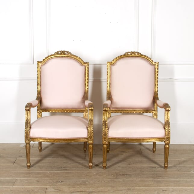 Pair of 19th Century French Fauteuils CH8817455