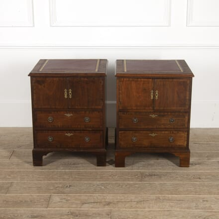 Pair of English Mahogany Bedside Cabinets BD8814839
