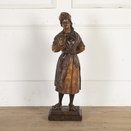Dutch Tulipwood Figure of a Milkmaid DA8914535