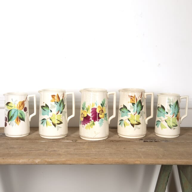 Set of 5 Hand-Painted Ceramic Jugs DA1316767