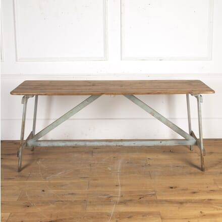English Fixed Trestle Table TD7316277