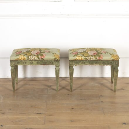 Pair of Floral Footstools ST7914983