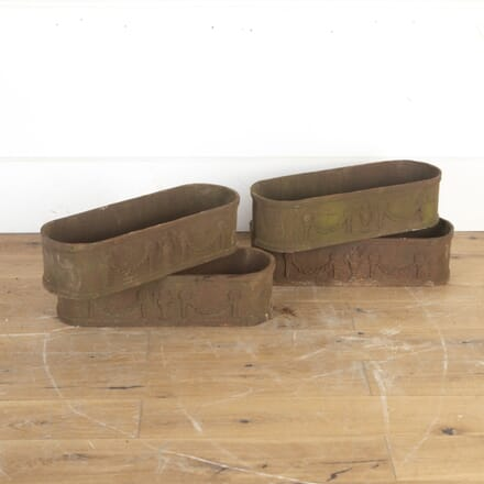 Four 19th Century Cast Iron Planters GA8213883