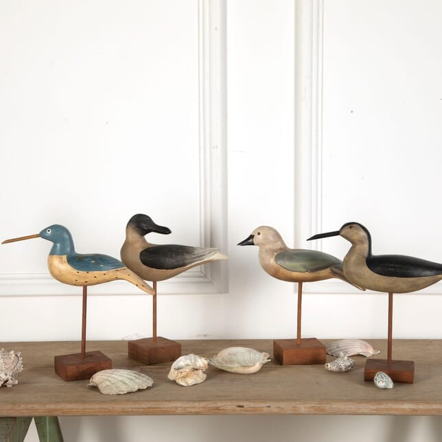 Four Carved & Painted Wooden Birds WD7611037