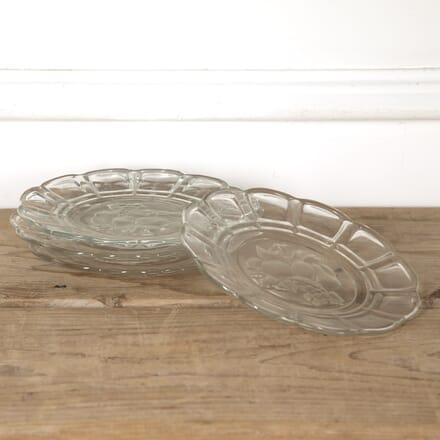 Set of Four Engraved Glass Plates DA1316846