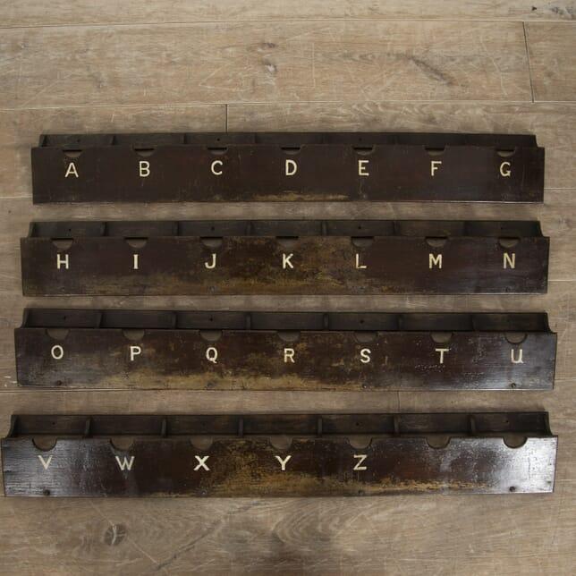 Four Vintage Letter Racks DA0515002