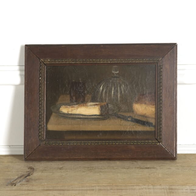 Framed Still Life of Cheese and Bread Oil on Canvas WD449255