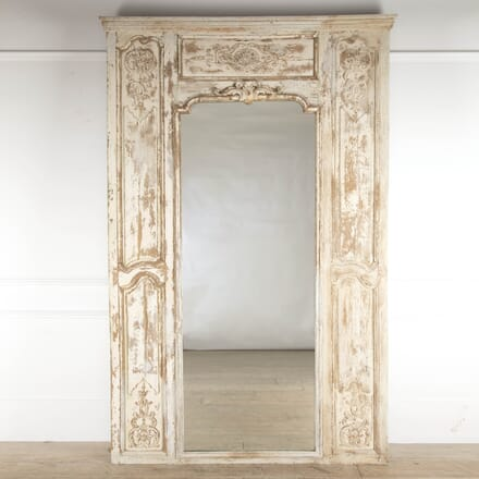 French 18th Century Painted Boiserie Mirror MI4114150