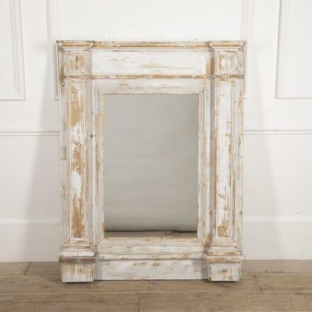 French 18th Century White Trumeau Mirror MI4415549