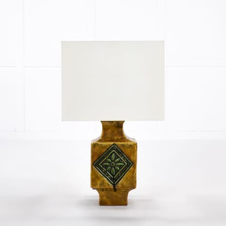 French 1960s Ceramic Glazed Table Lamp LT068937