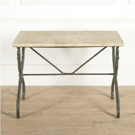 French 19th Century Cast Iron Table with Marble Top GA1160966