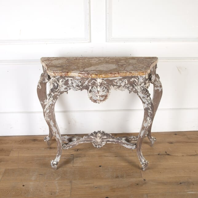 French 19th Century Console Table with Marble Top CO8113796