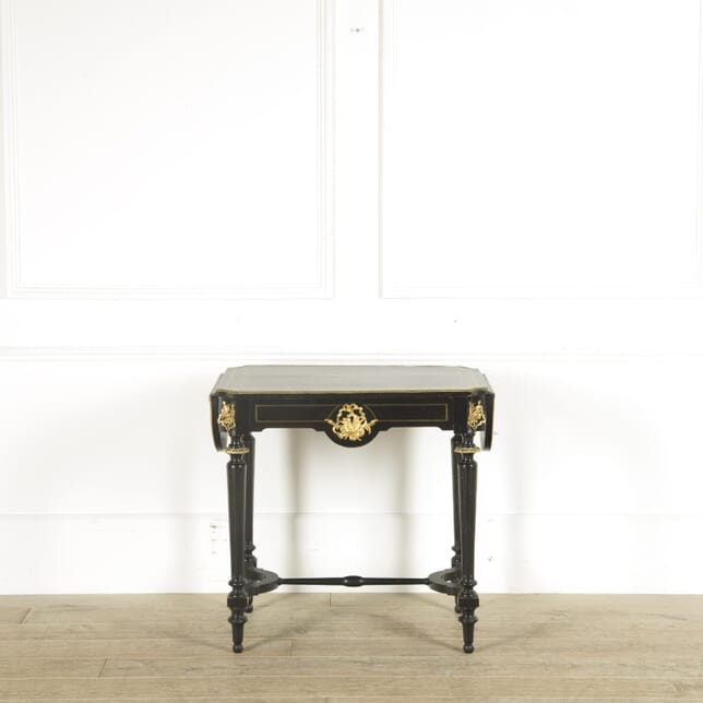 French 19th Century Ebonised and Gilt Metal Mounted Centre Table TC889685