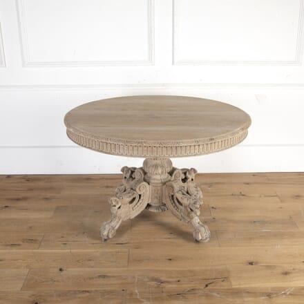 French 19th Century Round Oak Hunt Table DA8113952