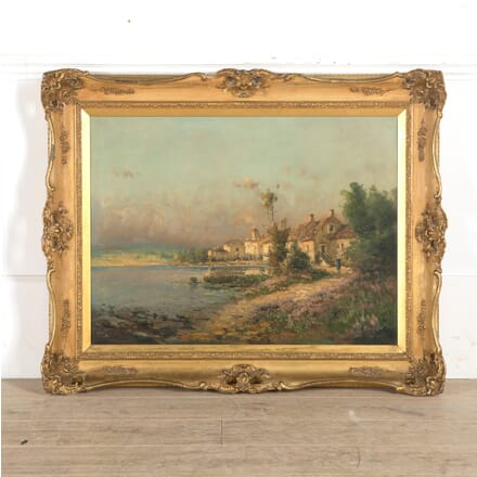 French 19th Century Oil Painting Signed PJ Pelletier WD889973