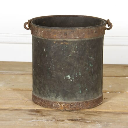 French 19th Century Winemakers Copper Bucket DA2817180