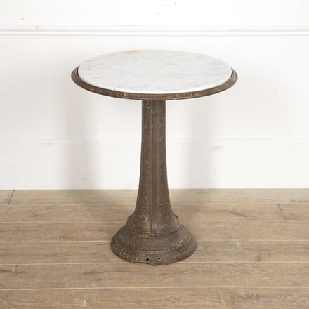 French 20th Century Iron and Marble Table CO2816153