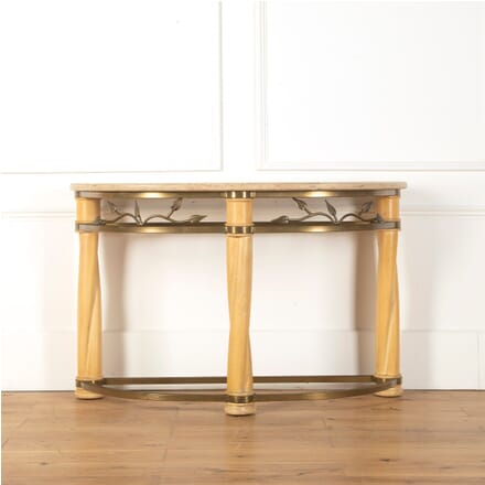 French Brass and Ivory Lacquer Console Table CO2710716