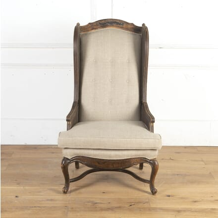 French Caned Wingback Armchair CH8716242
