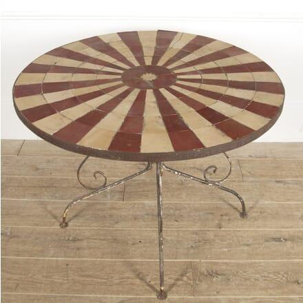 French Circular Tile Top Garden Table TC2914846