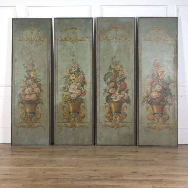 French Four Piece Canvas Wall Panels WD5310317