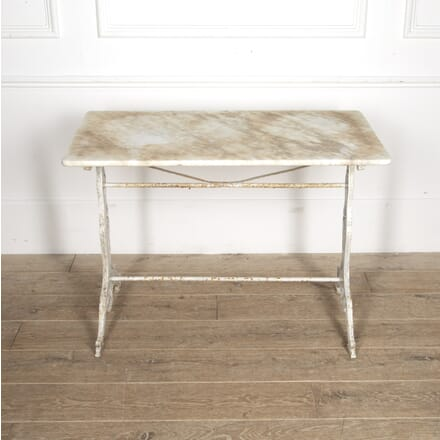 French Bistro Table with Marble Top GA1515387
