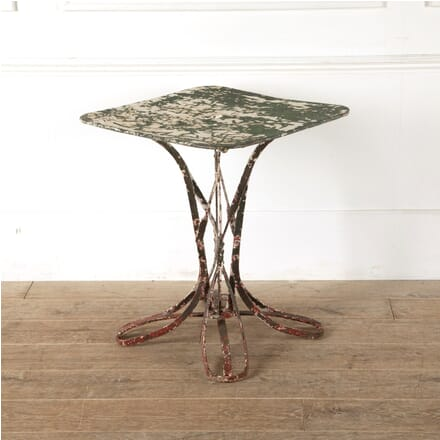 French Iron Garden Table With Old Paint GA4411334