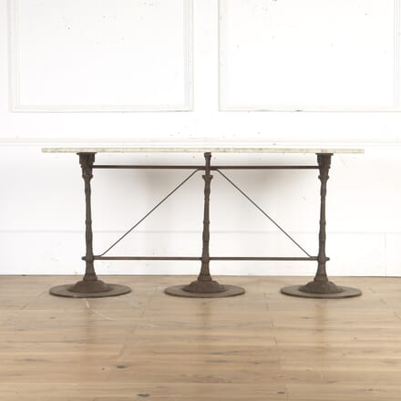French Iron and Marble Console Table GA8115728