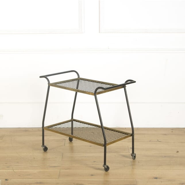 French Metal and Brass Drinks Trolley TS369546