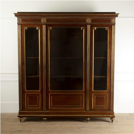 French 19th Century Mahogany and Brass Bookcase BK4111610