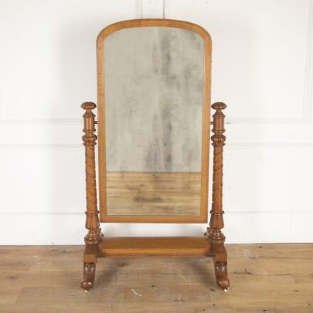 French Oak Cheval Mirror MI8914536