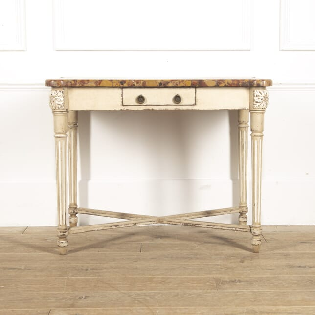 French Painted Table with Marble Top TC4815651
