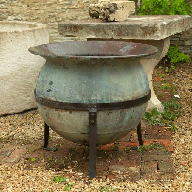 French Patinated Cauldron GA1910875