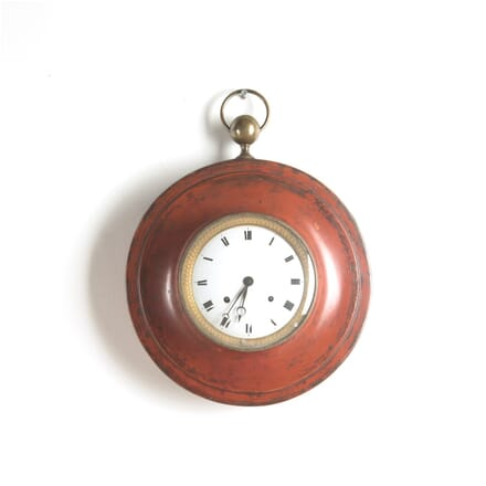 19th Century French Red Painted Tole Clock DA0210236