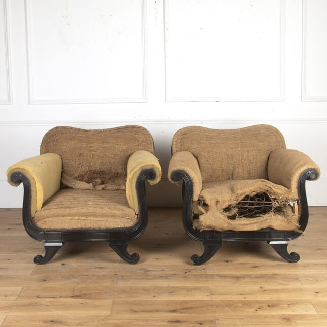 Pair of French Regency Style Armchairs CH7316295
