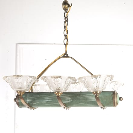 French Tole and Glass Pendant Chandelier LC5816527