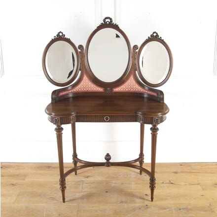 French Walnut Dressing Table with Mirrors BD8513858