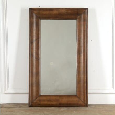 French 19th Century Walnut Mirror MI1516557