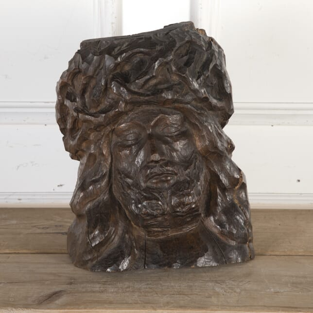 French Wooden Carved Bust of Christ DA8013774