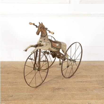 French Wooden Toy Horse on Wheels DA3513665