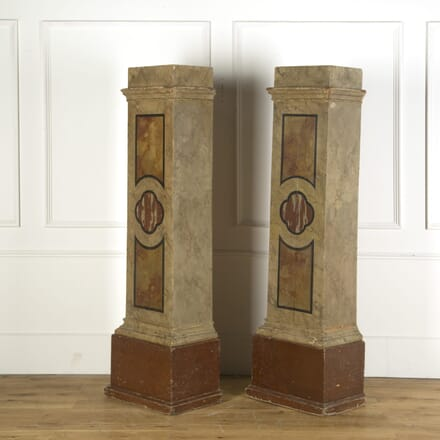 French Wooden Wall Painted Pedestals WD739180