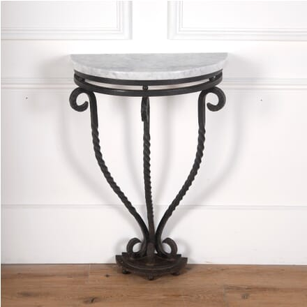 French Wrought Iron Console Table CO3610744