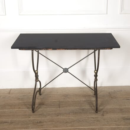 French Wrought Iron Table with A Slate Top TC4417058