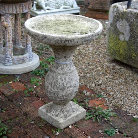 Stone Birdbath on Baluster Pedestal GA1961618