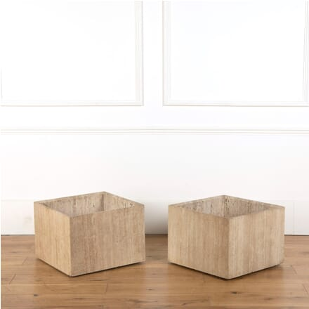 Pair of Travertine Planters GA377767