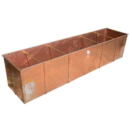 Large Contemporary Copper Garden Planter GA4257699