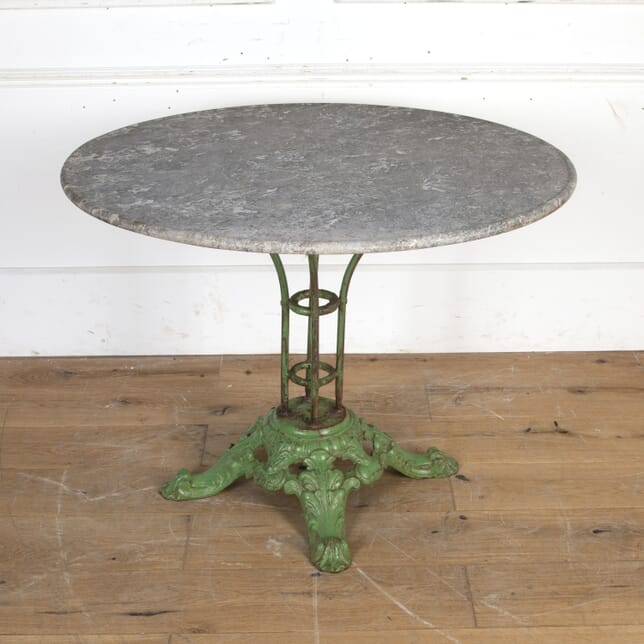 French Cast Iron and Marble Table GA8116305