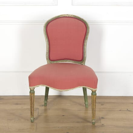 George III Red Salon Chair CH5110323